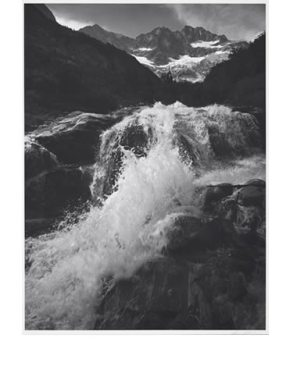 Waterfall, Northern Cascades, Washington,1960. Photograph by Ansel Adams. © The Ansel Adams Publishing Rights Trust