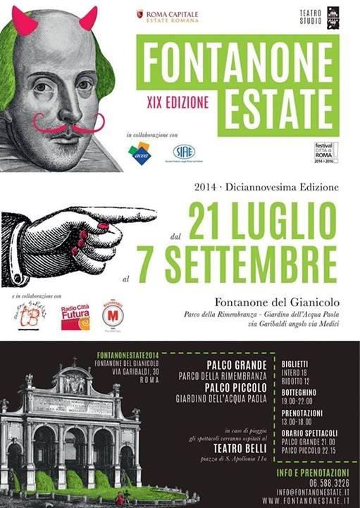 Un'estate di teatro, serio e divertente  Al Fontanone di